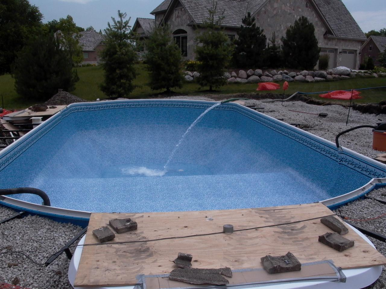 Pools by kure new inground pool installation for Pool installation